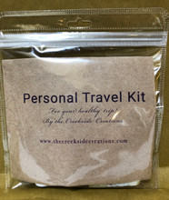 Personal Travel Kit For Your Healthy Trip!  By The Creekside Creations!