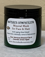 Natural Organic Rhassoul Clay & Chlorella Green Algae Facial Treatment! Purifies, Nourishes, Detoxifies and Conditions!