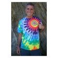 Rainbow Tie Dyed 528 Tshirt (Sunburst)