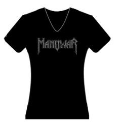 Ladies T-Shirt black with sparkle logo