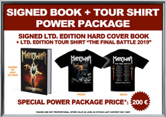 Power Package Signed Book + Ltd. Edition 2019 Tour Shirt