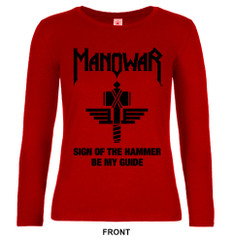 Ladies Long Sleeve Sign Of The Hammer red Ltd. Edit. 40th Anniversary