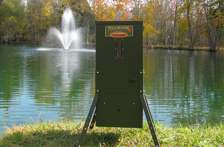 the dock lakes pond feeder fish ponds for and mounted king feeders best