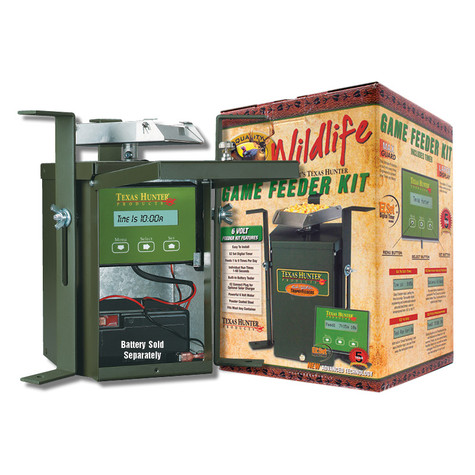 Texas Hunter 6 Volt Wildlife Feeder Kit with Packaging