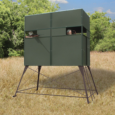 Texas Hunter Products Original 4' x 8' Double 4' Tower Blind