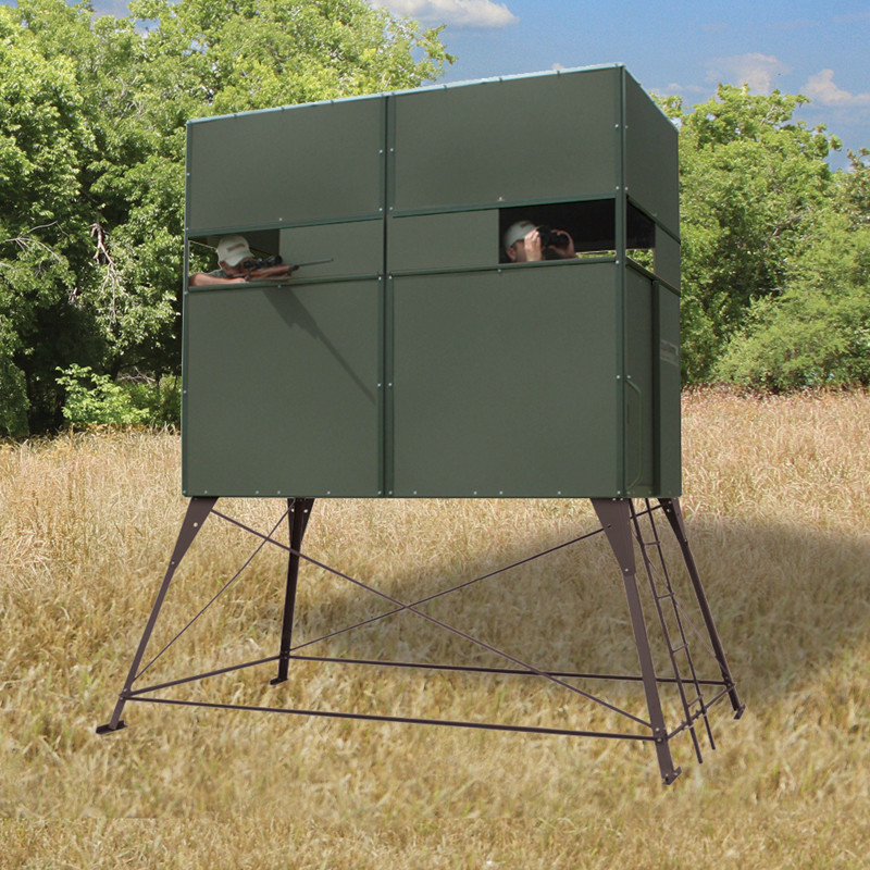 Texas Hunter 4'x8' Trophy Deer Blind with 4' Tower
