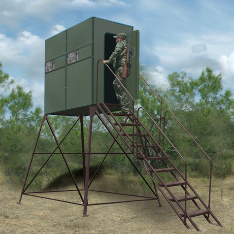 Texas Hunter Products Xtreme 8' Tower Blind 4' x 8' Double Deer Stand