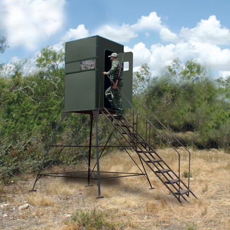 Texas Hunter Products Xtreme 8' Tower Blind 4' x 4' Single