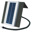6 Volt Universal Solar Charger with Powder-coated steel mounting bracket and flexible conduit wire protector for Deer Feeders by Texas Hunter Products