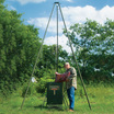 Texas Hunter 300 lb. Wildlife Trophy Feeder complete with EZ Lift Tripod Winch System