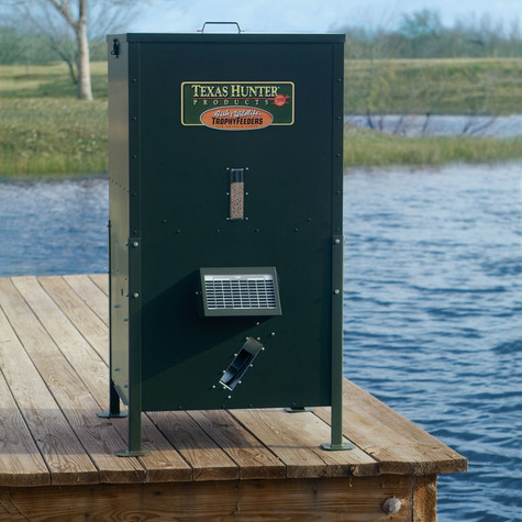 250 lb lake pond fish feeder texas hunter products