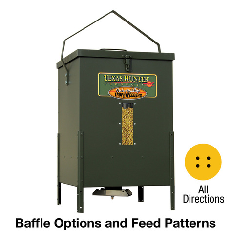All Directions - Texas Hunter 100 lb. Corn Capacity Hanging Wildlife Feeder