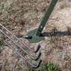 "Large welded foot pads with 24"" stabilizing stakes secures feeder to the ground"