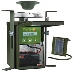 Texas Hunter Products 6 Volt Wildlife Game Feeder Kit with Battery and Solar Charger