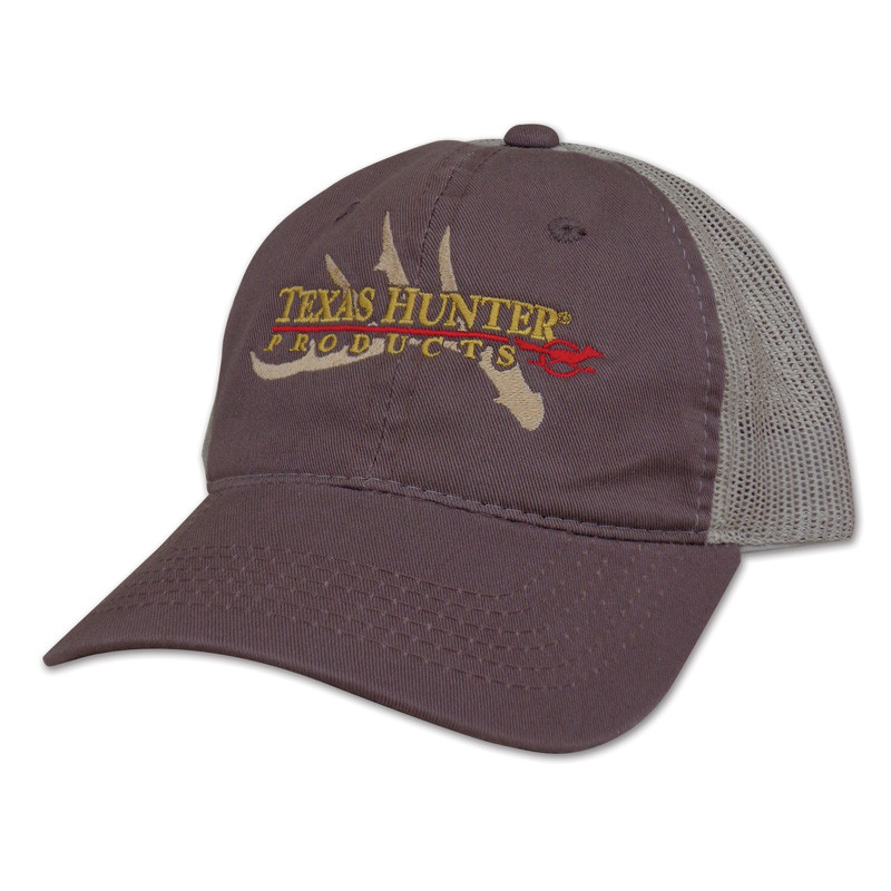 Texas Hunter Brown Mesh Back Cap With Antler Embroidery