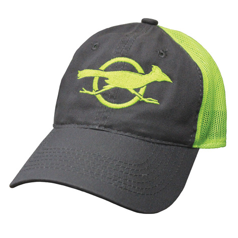Charcoal/Neon Yellow Cap with Texas Hunter Roadrunner Logo