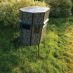 Texas Hunter Products 5' x 7' Wrangler Hide-A-Way Camo Hunting Blind with Combination Rifle and Bow Windows and 4-foot Powder-coated Steel Tower, with Full Door and Full Height Handrails.