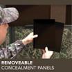 Removeable Concealment Panels