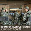 Room for Multiple Hunters and Plenty of Gear