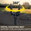 Swivel Shooting Rest with 360-degree Support for Accurate Shots