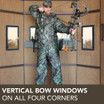 Vertical Bow Windows on all Four Corners
