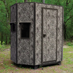 """Texas Hunter Products 5' x 7' Wrangler Hide-A-Way Camo Hunting Blind with Combination Rifle & Bow Windows and 7"""" Ground Legs."""
