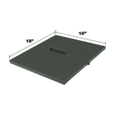 Replacement Lid Dimensions for DF125, LM 135 & LM 175 Fish Feeders