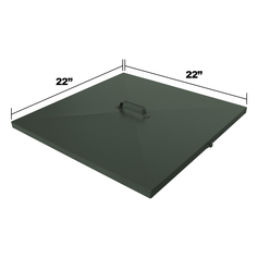 Replacement Lid Dimensions for DF300 & LM335 Fish Feeders