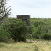 Texas Hunter Large 4' x 8' Deer Blind shown with 10-foot powder coated steel tower.