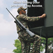 Texas Hunter Deer Blinds with  Quiet Sliding Door. Designed to provide easy and silent access.