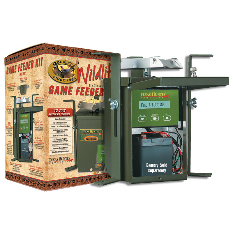 hover over image to zoom  image 1  texas hunter 12 volt wildlife feeder