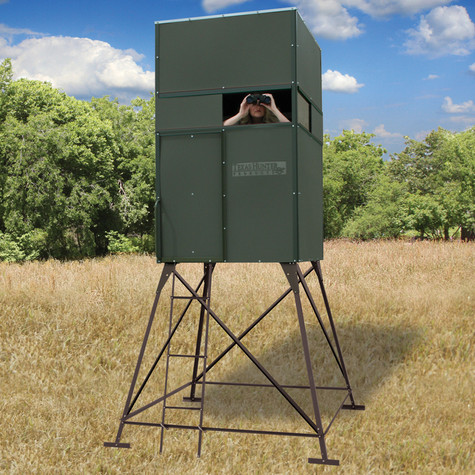 Texas Hunter Products 4' x 4' Deer Blind with 4-foot Powder-coated Steel Tower