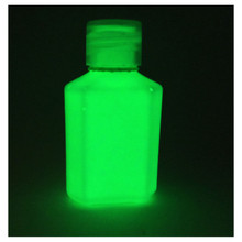 Glow in the dark green paint