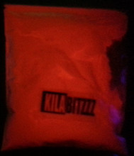 Red Glow in the dark powder