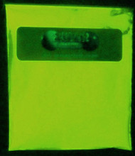 Yellow Glow In The Dark Powder