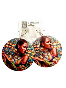 Black Lives Matter Multicolor Lady Earrings
