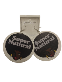 Black Lives Matter Super Natural Afro Earrings