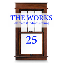 THE WORKS Complete In & Out Window Cleaning Package: 25