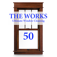 THE WORKS Complete In & Out Window Cleaning Package: 50