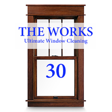 THE WORKS Complete In & Out Window Cleaning Package: 30