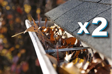 Full Service Gutter Cleaning, Inspection, Tune-Up for up to 100' of Gutter PACKAGE OF 2 VISITS