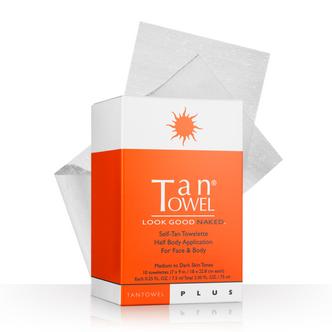 Tan Towel Half Body Plus Self-Tan Towelettes - 10 Pack