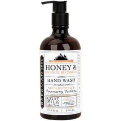 Cleanse & Balance. Not only is it a good combination for soap...it's a pretty decent philosophy for living too. Our Honey & Orange Blossom Goat Milk Hand Wash moisturizes your hands while gently cleansing. (And the great scent is inspired by the 100-year-old Beekman Mock Orange bushes & our buzzing Beekman bee hives.) Essential ingredients are blended together for their moisturizing, balancing and skin protecting properties.