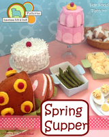 Spring Supper - Felt Food PDF Pattern