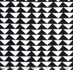 Thicket Black and White Triangles - Moda fabrics