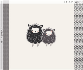 Capsules Nest One, Two, Sheep - Art Gallery Fabrics