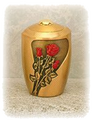 Bronze Urn (Red Roses)