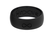 Groove Silicone Rings | Midnight Black/Black
