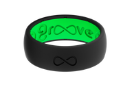 Groove Silicone Rings | Midnight Black/Green
