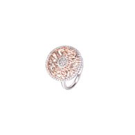 GRACE & LACE: Rose & White Ring